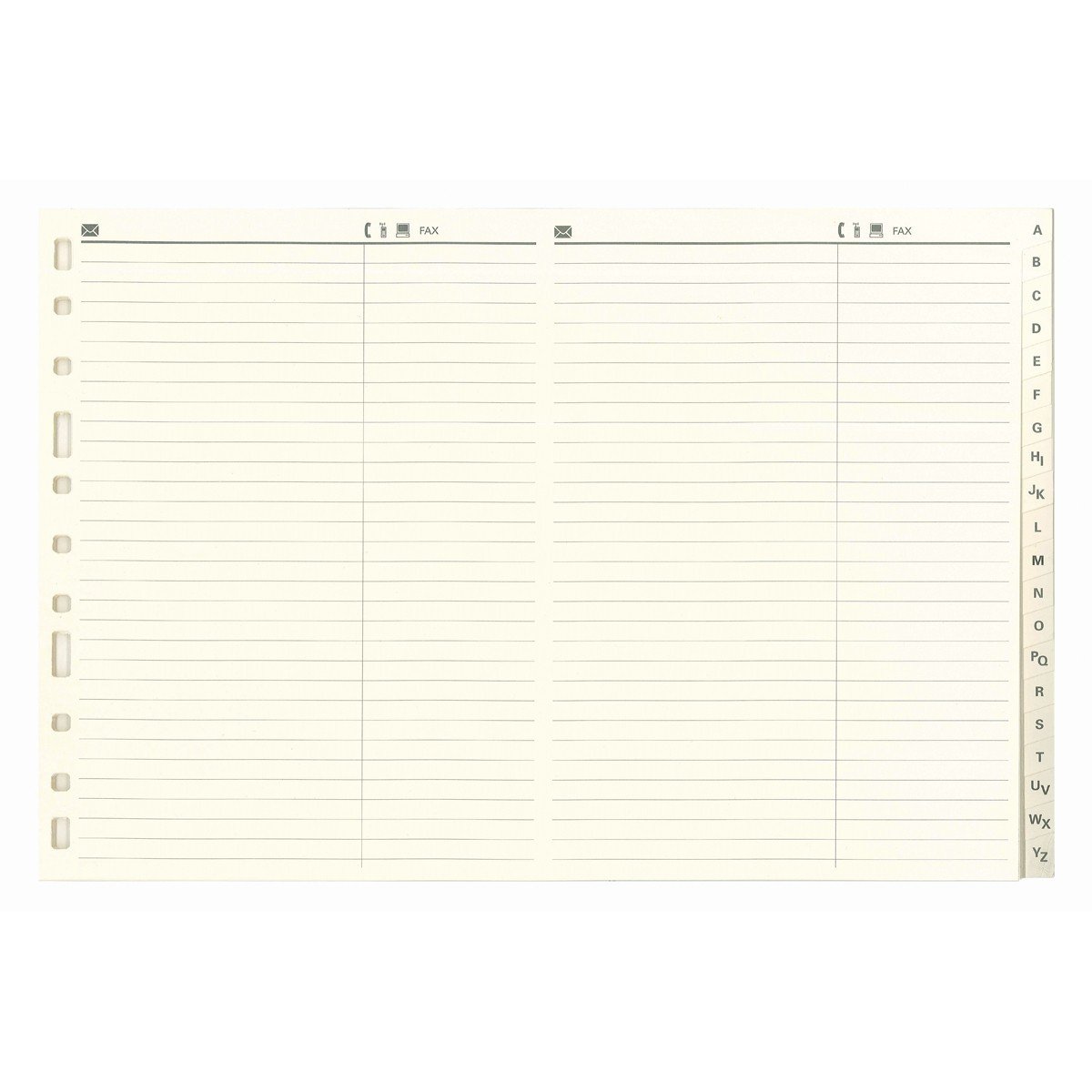 Indice Alfab/ético FINOCAM Alfa 3003 Cartulina 4/º Apaisado