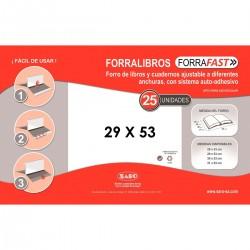 Forralibro SARO PVC Transparente, Caja x25