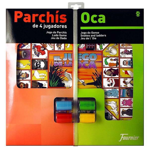 Parchís-Oca FOURNIER, 4 Jugadores Tablero 40 x 40 cm. + Accesorios