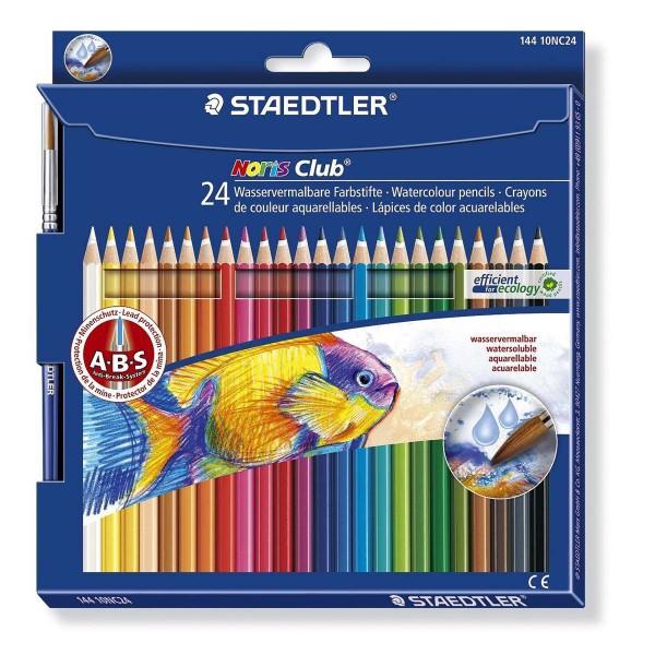 Lápices Acuarelables STAEDTLER Noris 144, Caja x24 Colores