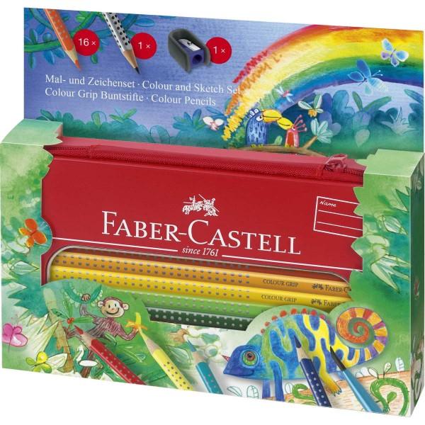 Lápices Acuarelables FABER-CASTELL Colour Grip, Estuche Metal
