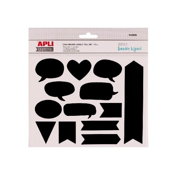 Scrapbooking APLI Stickers Pizarra, Blister x13