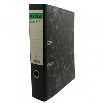 Archivador A-Z ELBA Rado Classic, Folio Ancho 80 mm. Jaspeado Negro