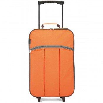 Maleta Cabina Plegable BENZI BZ4248, Blanda Poliéster 55 cm. Naranja