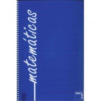 Cuaderno Espiral PACSA Folio 80H Cuadrovía 4 mm. Tapa Plástico