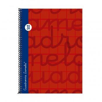 Cuaderno Espiral LAMELA 4º 80H Cuadrovía 3 mm. Tapa Extradura