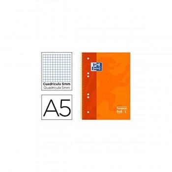 Cuaderno Espiral OXFORD Classic EB1, Din-A5 120H, Tapa Dura Cuadros 5 mm. Surtidos