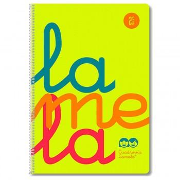 Cuaderno Espiral LAMELA Fluor, Folio 80H Cuadrovía 2,5 mm. Tapa Plástico