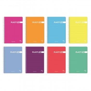 Cuadernos Espiral PACSA Plastipac, 4º 80H Nº 46 Tapa Plástico, Pack x5