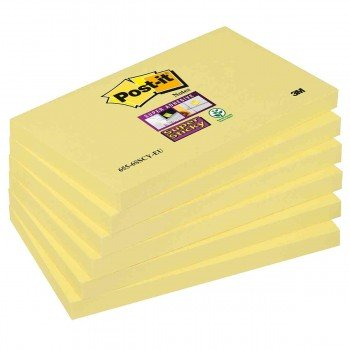 Bloc Notas Adhesivas 3M Post-it 655 76x127 mm. Amarillo