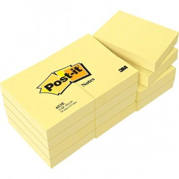 Bloc Notas Adhesivas 3M Post-it 653 38x51 mm. Amarillo