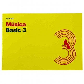 Cuaderno Música ADDITIO M03 Basic 3, 3 Pentagramas 170 x 240 mm.
