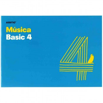Cuaderno Música ADDITIO M04 Basic 4, 4 Pentagramas 170 x 240 mm.