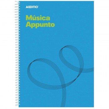 Cuaderno Música ADDITIO M12 Appunto, 12 Pentagramas Din-A4
