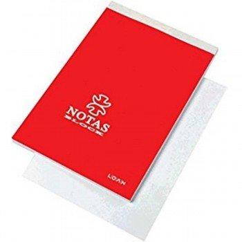 Cuaderno Notas Encolado LOAN, Fº 80H