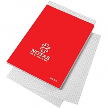 Cuaderno Notas Encolado LOAN, 8º 80H