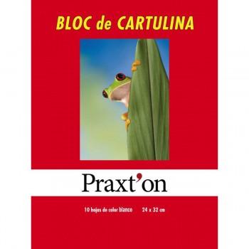 Cartulinas PRAXTON, Bloc x10 Hojas Blanco