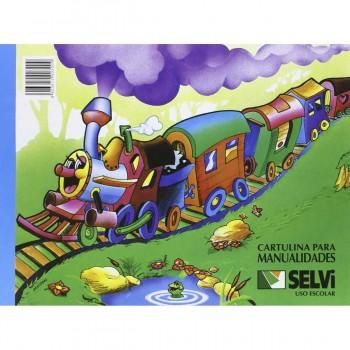 Cartulinas SELVI, Bloc x10 Hojas Surtidas