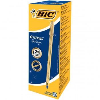 Bolígrafo BIC Cristal Shine Oro, Caja x20