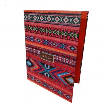 Carpeta Archivador KATACRAK Boho Chic Naranja, Folio 4 Anillas 35 mm.