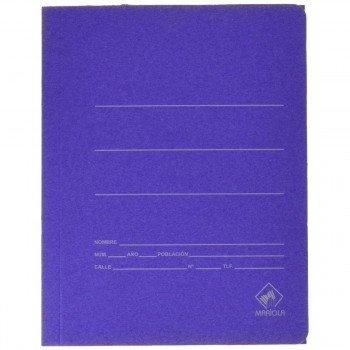 Carpeta Gomas Sencilla MARIOLA Cartón Mate, Folio Azul