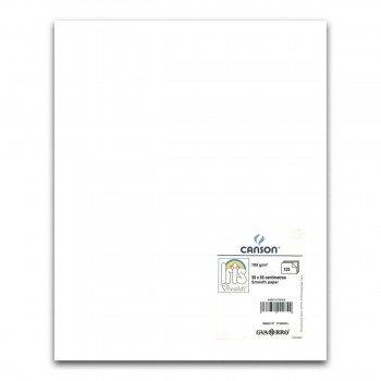 Cartulina CANSON Iris Vivaldi 50 x 65 cm. 185 gr. Blanco, Pack x125