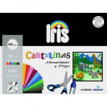 Cartulinas Canson Iris Vivaldi Din-A4 185 gr, Pack x10 Surtidos