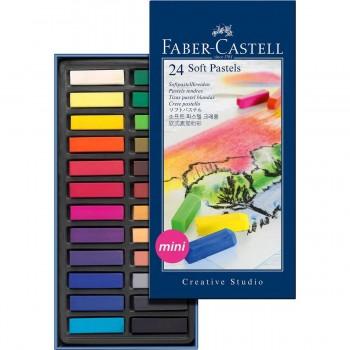 Tizas Pastel Blandas FABER-CASTELL Mini, Caja x24 Colores