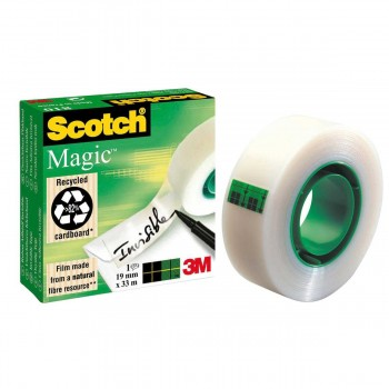 Cinta Adhesiva 3M SCOTCH Magic, 19 mm. x 33 m. Invisible