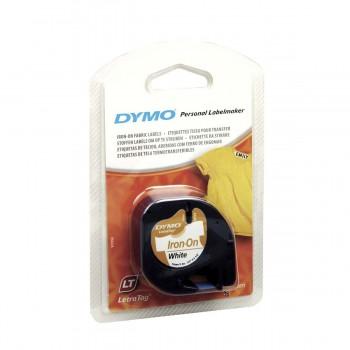 Cinta Rotular DYMO LetraTag, Iron Negro/Blanco 12 mm. x 4 m.
