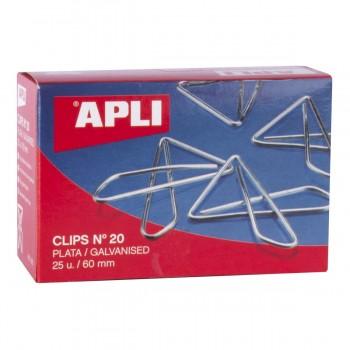 Clips Mariposa APLI Plateados