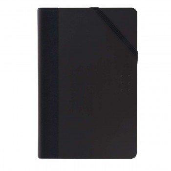 Cuaderno Notas MILAN Colours Negro, 21 x 14 cm. Lisa