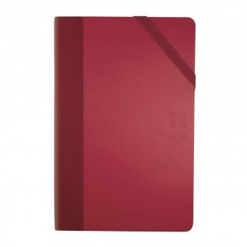 Cuaderno Notas MILAN Colours Rojo, 21 x 14 cm. Lisa