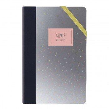 Cuaderno Notas MILAN Silver Rosa, 21 x 14 cm. Raya Horizontal
