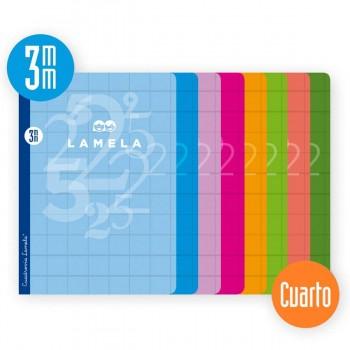 Cuaderno Libreta LAMELA, 4º 50H Tapa Básica Surtido