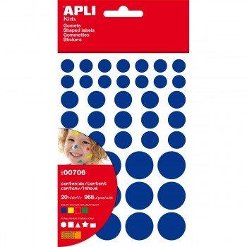 Gomets Figuras APLI Colores Surtidos 956u