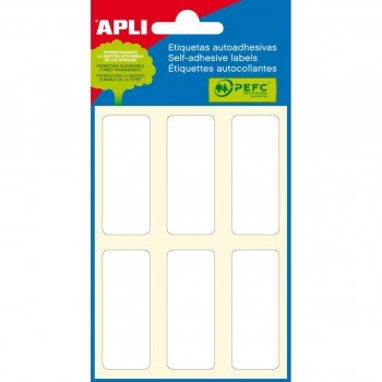 Etiquetas Manuales APLI Rectangulares, Sobre x6 Hojas