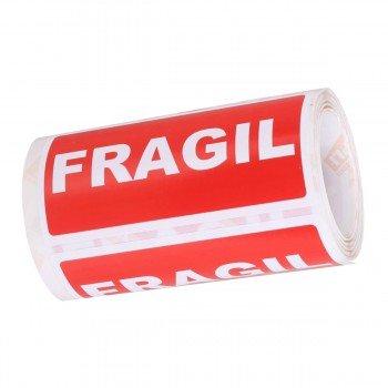 Etiquetas Envío APLI Frágil 50 x 100 mm, Rollo x200