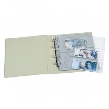 Funda Colección Billetes PARDO, 3 Departamentos, Pack x10