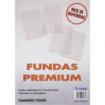 Funda Portadocumentos DOHE PP Piel Naranja, Folio Multitaladro, Caja x100