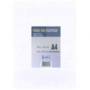 Funda Plastificar DOMINGO FERRER Recuperable, Din-A4 Caja x100