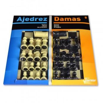 Multijuegos FOURNIER Ajedrez-Damas, Tablero 40 x 40 cm. + Accesorios