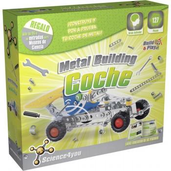Juego Construcción SCIENCE4YOU Metal Building Coche