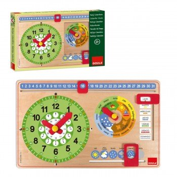 Juego Educativo GOULA, Reloj Calendario Castellano