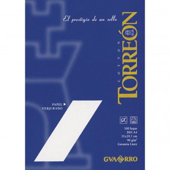 Papel Verjurado CANSON Torreón Ahuesado Din-A4 90 g/m2, Pack x100 Hojas