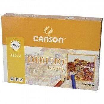 Papel Dibujo CANSON Basik Liso Din-A4 130g/m2, Caja x250 Hojas
