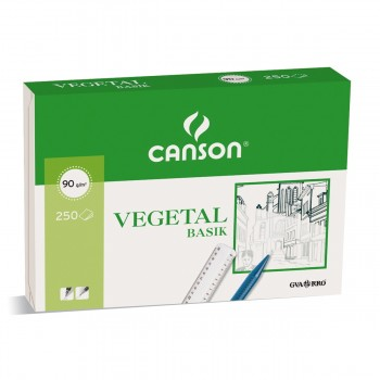 Papel Vegetal CANSON Basik Din-A4 95g/m2, Caja x250 Hojas