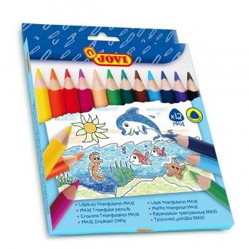 Lápices Color JOVI Maxi, Estuche x12 Colores
