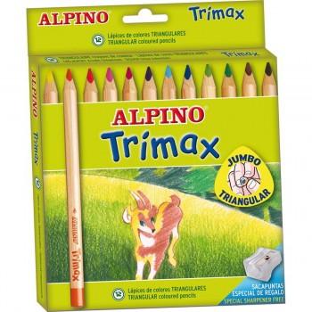 Lápices Color ALPINO Trimax, Caja x12 Colores