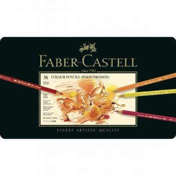 Lápices Polychromos FABER-CASTELL, Estuche Metal x36 Colores